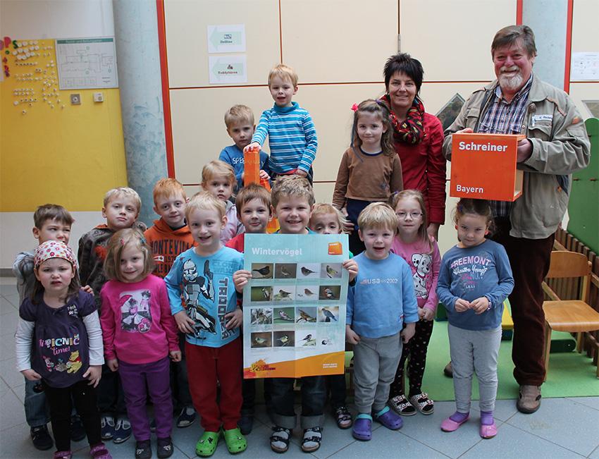 windervoegel kinderhaus - Verleihung Vogelhäuschen Kindergarten